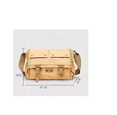 Mailman MYLL Retro Unisex Bolso Ocasional Hombro Messenger Bag Brown