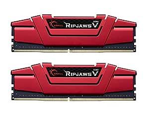 G.Skill 16GB DDR4 PC4-24000 3000MHz Ripjaws V Red CL16 Dual Channel kit (2x8GB) 1.35V
