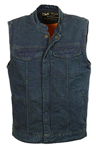 Club Vest Men's Side Lace Denim