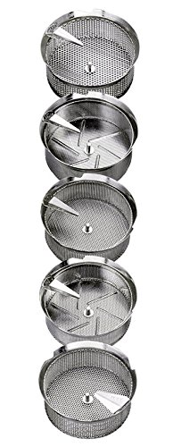 Replacement Grid/Grill/Sieve, Stainless Steel, For X5 8-Qt Mouli Mill - 1 mm Holes by L. Tellier