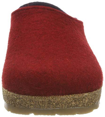 Pantofole Kris Uomo Grizzly Haflinger paprika Rosso 42 ETgq11W f67a8c51909