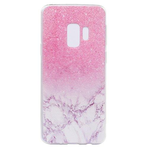 Cover para Samsung Galaxy S9 Plus ( No hacer coincidir Samsung Galaxy S9 ) , WenJie Círculo azul Transparente TPU Silicona Suave Funda Case Tapa Caso Parachoques Carcasa Cubierta para Samsung Galaxy S MM18