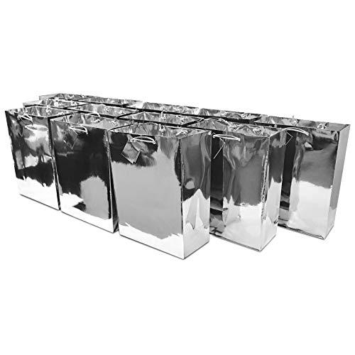 Silver Gift Bag (10x13x5