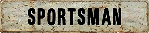 """Any and All Graphics Sportsman Rustic Vintage Antique Look 4""""x18"""" Aluminum Novelty Street Sign"""