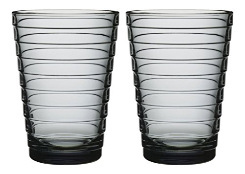 iittala AI9504142 Aino Aalto Set of Two 11.75 Oz. Tumblers Grey