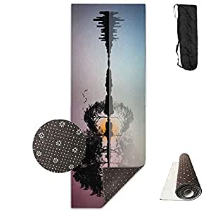 Amazon.com: Guitar Forest Silhouette Yoga Mat - Advanced ...