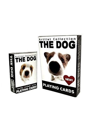 Bicycle The Dog Artist Collection Playing Cards 2 Deck Set (1 Regular & 1 Mini Deck)