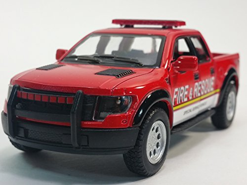 Kinsmart 2013 Red FD Fire & Rescue Dept Ford F-150, used for sale  Delivered anywhere in USA