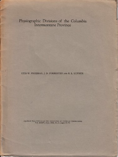 PHYSIOGRAPHIC DIVISIONS OF THE COLUMBIA INTERMONTAINE PROVINCE