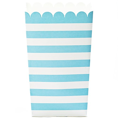 white and blue popcorn bags - 8