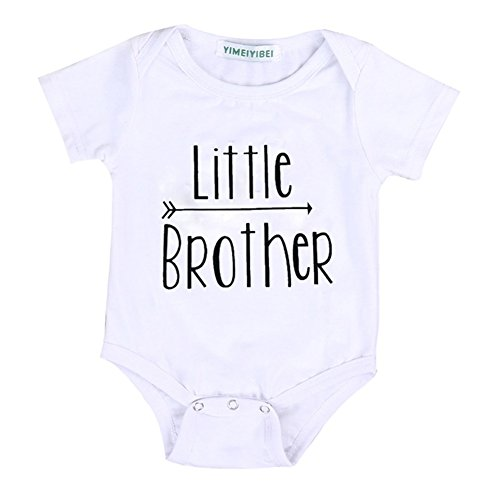Timall Baby Letter Flower Brothers Sisters Matching Clothes Rompers with Shirts