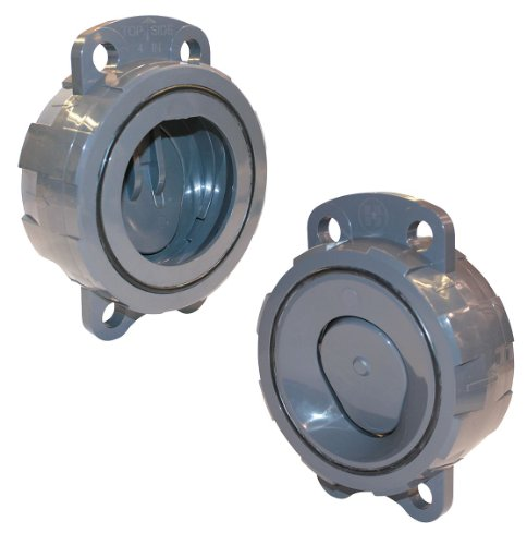 Hayward WCV1800ES Series WCV Full Pattern Wafer Check Valve with Spring, PVC with EPDM/SS Seals, 8