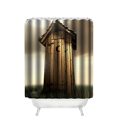 outhouse shower curtain - 4