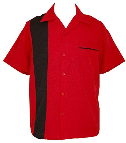 Bowling-RetroCamp-Mens-Short-Sleeve-Red-Shirt-BeRetro-Chilli-Pepper