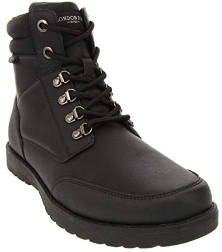 London Fog Mens Cambridge Cold Weather Snow Boot Black 9