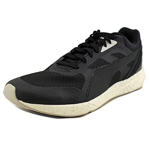 PUMA Men's 698 Ignite Running Shoe, Black/Black/White, 10.5 D US