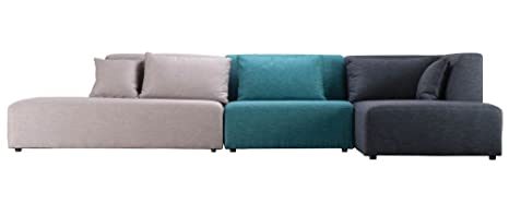 Miliboo - Divano modulare Design Blu 365cm componibile 1 PLURIEL ...