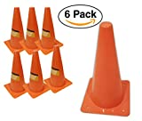 6 Pack – Orange Safety Cones, For Sports or Traffic, Durable.