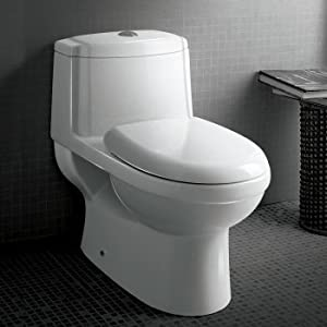 Ariel TB222M Ariel Platinum Anna Contemporary One Piece White Toilet
