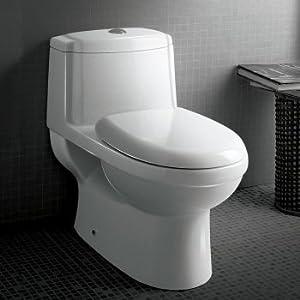 Ariel TB222M Ariel Platinum Anna Contemporary One Piece White Toilet