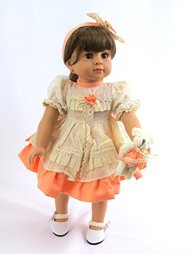 Peach Dress with Bunny -Fits 18