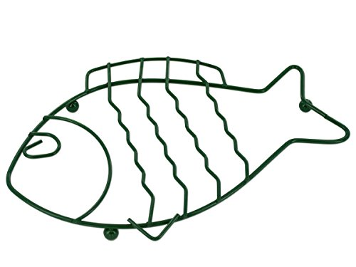 Bulk Buys HG181-72 Green Wire Fish Trivet - 72 Piece by Kole Imports