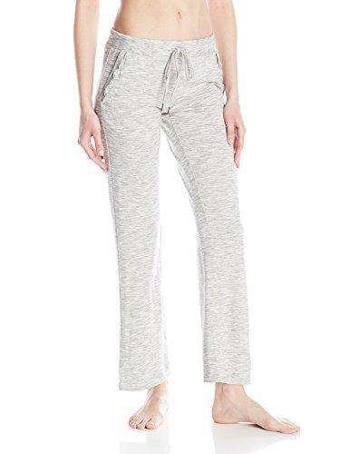 (Felina Women's Terry, Ribs & Ruffles Lounge Pant, Heather Grey, M)
