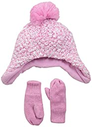 The Children\'s Place Baby-Girls Infant Popcorn Knit Set, Sparkle Pink, Small/12-24 Months