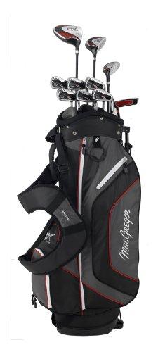 MacGregor DX Plus Golfschläger-Set, Stahl / Graphit schwarz Schwarz / Rot Pack of 11