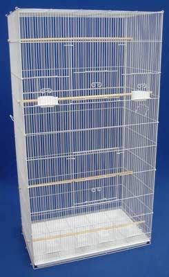 (Brand New Lot of 2 Aviary Bird Sugar Glider Ferret Cage 30x18x55WHT)