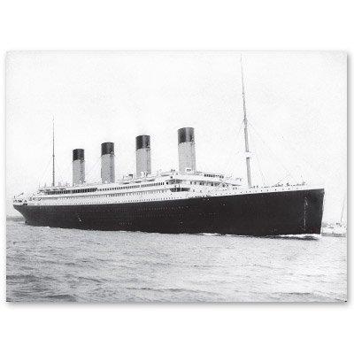 Hampton Helmet (Titanic 1912 Leaving South Hampton Vinyl Sticker - Car Phone Helmet - SELECT SIZE)