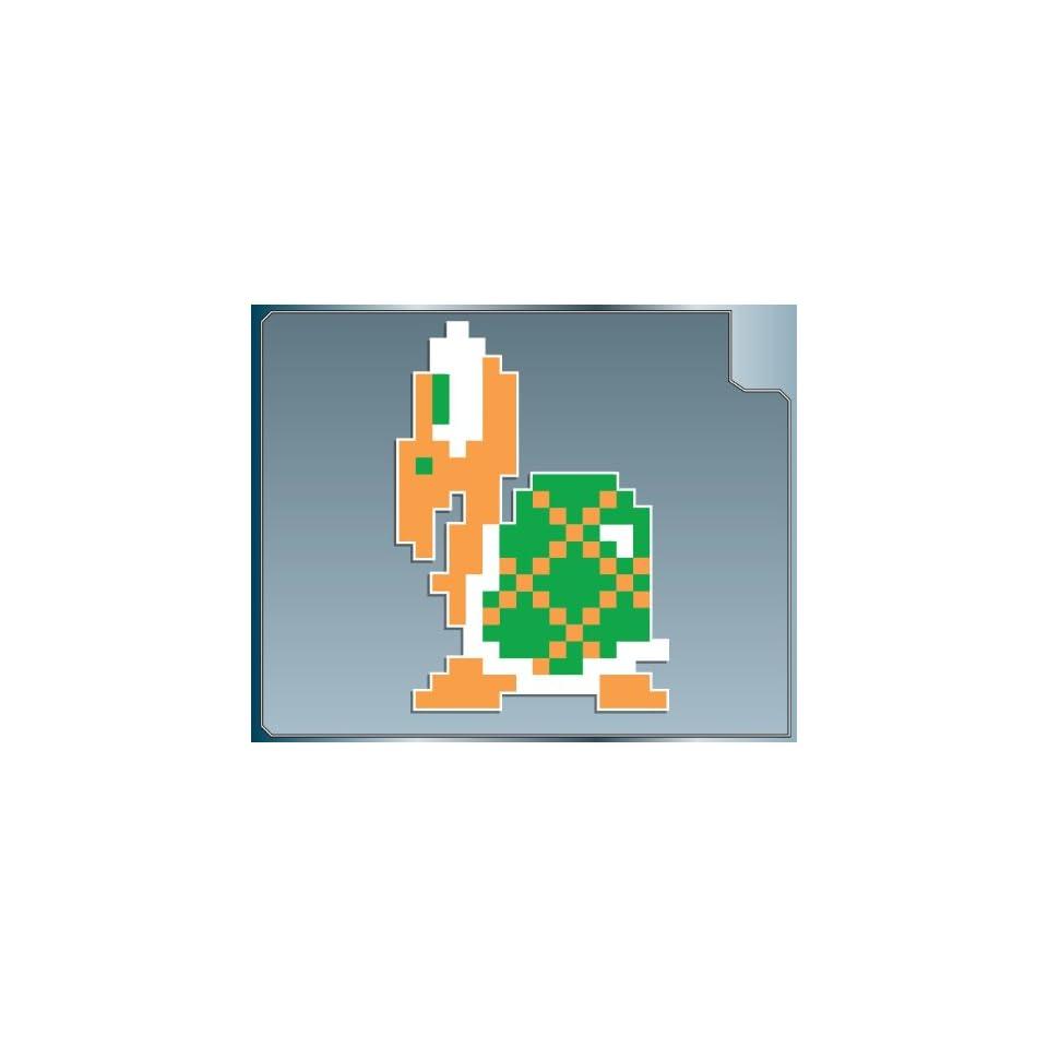 KOOPA TROOPA in Green 8 bit from Super Mario Bros. vinyl decal sticker