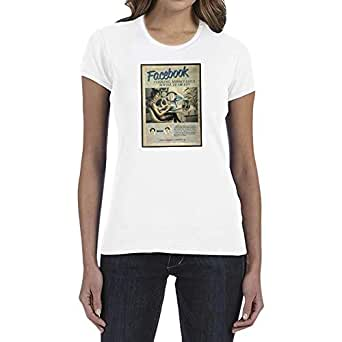 IngraveIT White Cotton Round Neck T-Shirt For Women