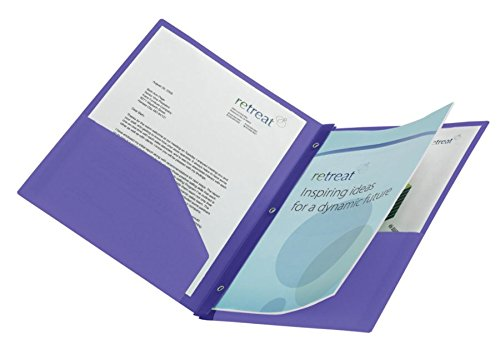 (Divoga 2-Pocket 3-Prong Report Cover, 8 1/2
