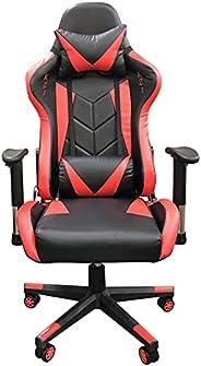 Cadeira Gamer Escritório Ergonômica Giratória Massageadora (Preta e Vermelha)