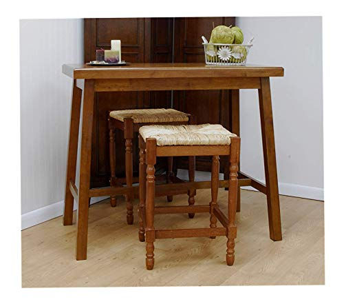 Deluxe Premium Collection Carolina Cottage Asian Bar Table Walnut Decor Comfy Living Furniture