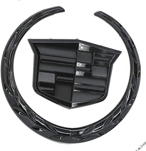 Guzetop 6 Front Grille Emblem Hood Badge Logo Symbol for Cadillac (Black)