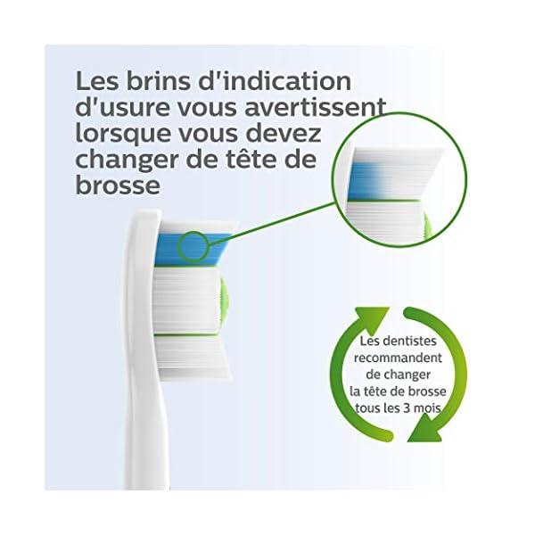 Philips Sonicare HX6064/10 – Pack de 4 Têtes de Brosse W2 Optimal Blanc