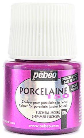- Pebeo Porcelaine 150 China Paint (Shimmer Fuchsia) 2 pcs sku# 1827865MA