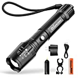 #4: Bright Rechargeable Tactical Flashlight, eSamcore High Lumens LED Flashlights Flash Light with Battery for Camping