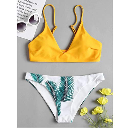 Excursion Sports Women's Two Pieces Bikini Swimsuits, Sexy Printed Off Shoulder Push Up Padded Bathing Suits Swimwear
