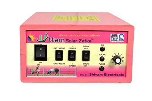 UTTAM Zatka Machine (2X Power) Solar Fence Energizer 100 Acres (200 Viga) Area Cover Zatka Machine – Pink