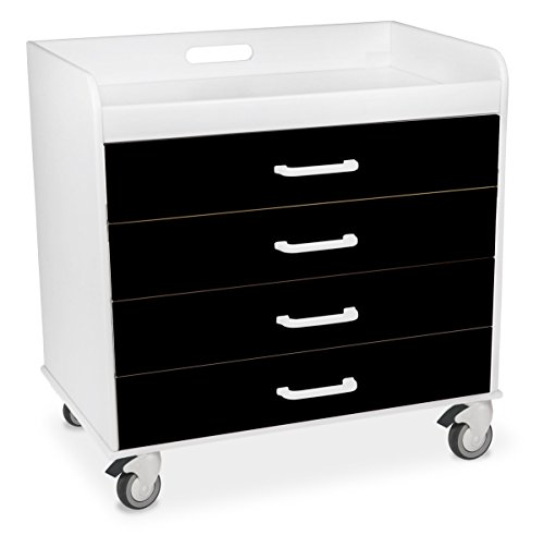 (TrippNT 51362 Polyethylene/ABS Extra Wide Compact Locking Cart, 27