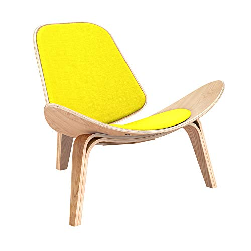 NyeKoncept 14500234 Vibrant Yellow Shell Chair Natural from NyeKoncept