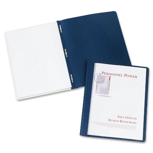 Avery Durable Clear Front Report Covers, Dark Blue, Pack of 25 (47961) Size: 1 - Pack Style: Clear, Model: 47961, Office/School Supply Store