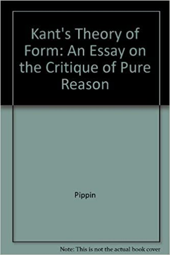 kant s theory of form essays on critique of pure reason robert  kant s theory of form essays on critique of pure reason robert pippin 9780300026597 com books