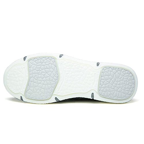 Kameel Heren Ultra Lichtgewicht Comfort Geweven Elastisch Geweven Antislip Slip Loafer Schoenen Grijs