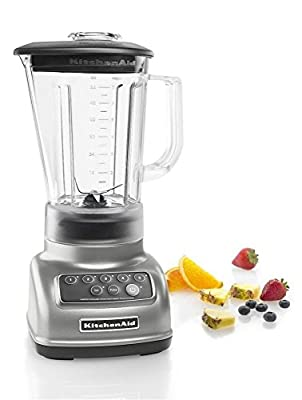 NEW KitchenAid KSB1570SL 5-Speed Blender with 56-Ounce BPA-Free Pitcher - Silver