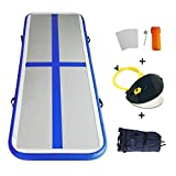 EZ GLAM Inflatable Tumbling Gymnastic Air floor Mat Track Cheerleading for Home Use/Cheerleading/Beach/Park and Water