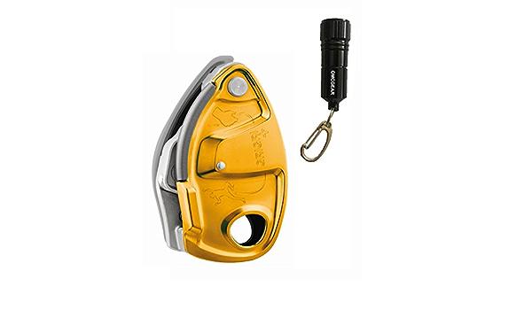 Petzl Grigri Plus Belay dispositivo – naranja w/clave cadena ...
